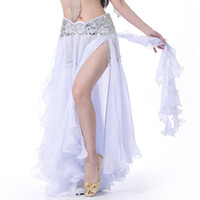 Hot Sale 13 Colors Chiffon Belly Dance Clothing Long High Waist Maxi Women Skirts for Belly Dance(1PC skirt only)
