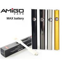 2pcs al por menor Amigo Vape batería Max Vape Pen Baterías 510 Tema Vape batería 380mAh voltaje variable 510 Baterías para cartuchos de aceite espeso