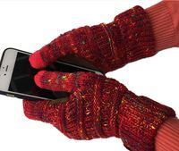 Guanto da uomo Touch Screen Guanto da donna Guanti invernali Guanti caldi in lana Antiscivolo Telefono a maglia Guanti capacitivi Guanti di Natale DHL