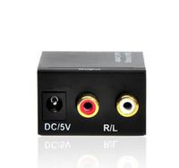 2017 디지털 Adaptador 광 동축 RCA Toslink 신호 아날로그 오디오 변환기 어댑터 케이블 도매 새로운 도착