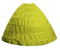 9 Цвет Доступен Оптовая Широкий 6 Обручи Юбка Для Бальное Платье Кринолин Нижняя Юбка Свадебные Аксессуары Юпон Mariage