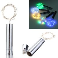 15 LED Battery Powered Plating Wine Bottle Stopper Copper DI...