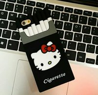 New Cigarette Silicone Cellphone Case Cartoon Cat Mobile Pho...