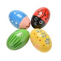 Горячие хорошо разработан яйцо деревянные детские игрушки музыка шейкер инструмент музыка учебные пособия перкуссия красочные маракасы
