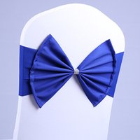 Spandex Bow Tie Bands Decorative Chair Sashes Accessory Banq...