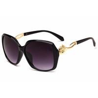 النظارات الشمسية للمرأة النسائية النظارات الشمسية الفاخرة أزياء المرأة النظارات الشمسية العصرية السيدات المتضخم نظارات شمس زهرة مصمم 4L2A27
