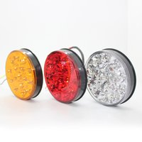 1 Pair 18 LED Trailer TAIL LIGHTS Turning Signal Light Indic...