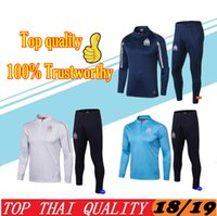 2019 Olympic Marseille Tracksuit Soccer Jogging Football Top...