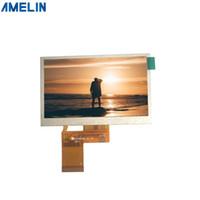 Exposição de 4,3 polegadas 480 * 272 tft lcd módulo com a tela da relação do RGB da fabricação do painel de shenzhen amelin