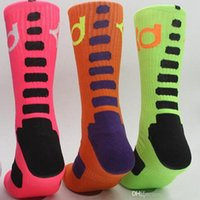 Brand KD basketball socks for men knee high elastic crew soc...