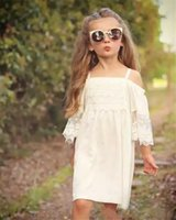 New Arrival Cute Kids Girls Lace Dress Puff Sleeve Sundress ...