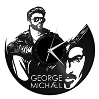 George Michael Vinyl Creative Orologio al quarzo Vintage Home Decor Room Decoration Wall Art Wall Clock (Dimensioni: 12 pollici, Colore: Nero)