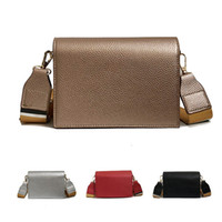NEW Women PU Leather Casual Mini Shoulder Bag Girls Wide Sho...