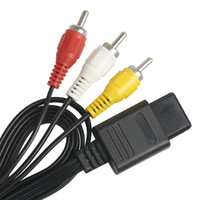 Venta al por mayor 500 unids / lote 1.8m 6 pies AV TV RCA Cable de video Cable para SNES Gamecube para N64 64 Cable de juego para Conectores de salida de audio SFC 2