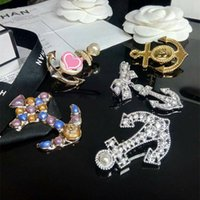6 Designs for Options Men Women Luxury Designer Pins Brooche...