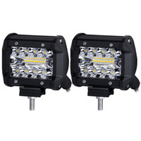 60W Triple Row LED Arbeitslichtstrahl 4 Zoll Spot Flood Combo Strahl CREE LED Fahrlichter Off Road Beleuchtung Lichter für LKW Auto ATV Boot SUV
