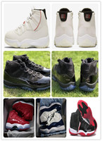11 Platinum Tint Concord Prom Night Basketballschuhe 11s Space Jam gezüchtet Gym Red Midnight Echte Kohlefaser XI Sports Shoes Originalverpackung