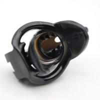 Maschio silicone (Small / Standard) gabbia con dispositivo di massaggio Denti Chastity nero / colore rosa A362 / 363