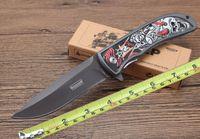 الجملة كيرشو الطي سكين براوننج / صفر التسامح معسكر الجيب سكين جديد 3d نمط مقبض التيتانيوم بليد بقاء سكين