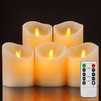 Battery Operated Candles Pillar Realistic Moving Flame Real ...