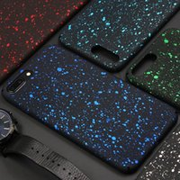 Bling Fluorescence Stars Starry Case 3D Ultra Thin Slim Sky Flowing Frosted Efecto visual Hard Cover PC para iPhone XS Max XR X 8 7 6 6S Plus