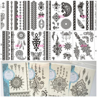 Sexy Black Lace Temporary Tattoos Waterproof Tattoo Supplies...