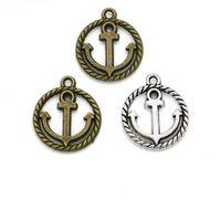 200 Unids Ancla de aleación de plata Antigua de bronce Encantos Colgante Para el collar de la Joyería que hace hallazgos 18x16mm