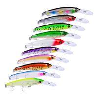 Yeni Uzun Dudak Tasarımcı Minnow Lazer Swimbaits Atificial Alabalık Pike Crankbait 19.5 cm 46.5g Derin Dalış Büyük Oyun Balıkçılık Plastik cazibesi