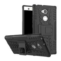 Для Sony Xperia XA1 Plus XA2 Ultra XZ2 компактный чехол гибридный Kickstand прочный сверхмощный ТПУ + PC противоударный броня чехол