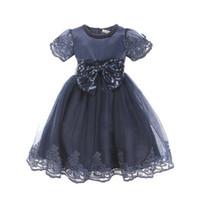 AiLe Conejo bebé ropa de niña Princesa Vestido de manga corta de encaje arco vestido de bola Tutu Vestido de fiesta Niños pequeños Fancy Dress