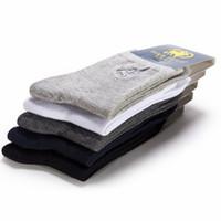 معيار القطن pirpolo ماركة جورب جودة عالية 5 زوج / وحدة رجال الأعمال الرجال الجوارب التطريز اللباس الجوارب الطويلة الجوارب calcetines