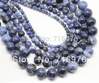 8mm all'ingrosso perline di pietra naturale vecchio blu sodalite branelli allentati rotondi per monili che fanno 15.5 pollici scegli dimensione 4 6 8 10 12mm