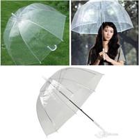 """34 """"큰 아폴로 우산 짙은 바람막이 투명한 명확한 거품 딥 돔 귀여운 큰 우산 여자 여자 패션 비옷 c086"""