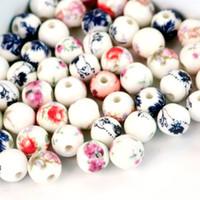 Keramik Bunte Blume Perlen 500 TEILE / LOS 8mm für DIY / Handmade Mode Armband Halskette Schmuck Machen Heiße Verkäufe