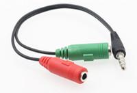 3.5 ses kablosu bir nokta iki cep telefonları, bir mikrofon adaptör kablosu bilgisayar mikrofon kulaklık adaptör kablosu LLFA