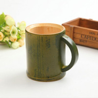 Handmade Natural Bamboo Tea Cup Japanese Style Beer Milk Cup...