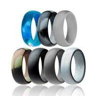 Casamento de silicone anel de casamento flexível de silicone O-ring ajuste confortável lightweigh Anel para homens Multicolor design confortável para Mulheres