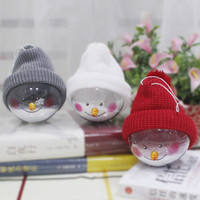 Snowman Plastic Clear Ball Hanging Party Decoration Christma...