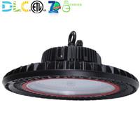 جيل جديد 150W 200W LED UFO High Bay Light التجاري مستودع الصناعي مصنع الإضاءة متجر مصباح تركيبات 130LM / W 5000K ETL DLC