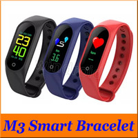 Bracciale Fitness M3 impermeabile Heart Rate Monitor Blood Pressure Schermo a colori Smart band Watch PK Mi Band Fitbit xiaomi Wristbands