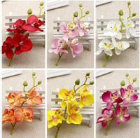 10pcs lot Silk Artificial Orchid Bouquet for Home Wedding Pa...