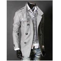 جديد رجالي معطف مصمم ملابس متوسطة طويلة خندق طويل معطف الصوف سترة ماركة أزياء واقية الرجال قميص