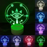 Hot Game The Legend of Zelda 3D Acrylic LED Night Light Touc...