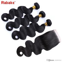 Malaysian Body Wave Hair Bundles with Lace Closure 4x4 Swiss...