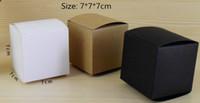 7*7 * 7 см пустой белый / черный / крафт-бумага упаковочная коробка DIY ручной мыло косметические подарочные коробки клапан трубы пакет