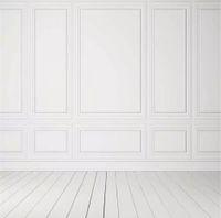 Fondali fotografia in puro bianco pavimento in legno stampato interni camera bambini bambini foto sparare sfondo carta da parati festa di nozze sfondo