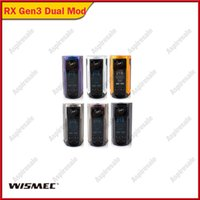 WISMEC REULEAUX RX GEN3 Dual Box Mod 230W Wyjście Dual 18650 Baterie Vape Mod z 1,3 calowym garniturem na zbiornik King Gnome King