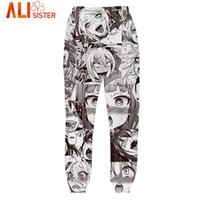 Wholesale- Alisister Ahegao Joggers Pants Men' s Funny Ca...