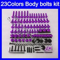 Fairing Bolts Full skruvkit för Kawasaki ZZR400 93 94 95 96 ZZR 400 ZZR 600 ZZR600 97 98 99 00 Kroppsnötter Skruvar Mutter Bolt Kit 25Colors