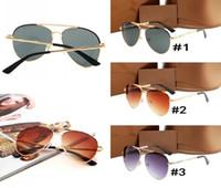 2018 nuevas gafas de sol de lujo 4271 hombres mujeres gafas de sol marco de oro marco de metal cuadrado estilo vintage marco grande modelo clásico de calidad superior